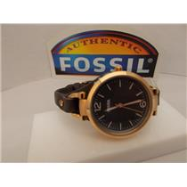 "Fossil ES3077 Women's ""Georgia"" Leather Strap Watch, 32mm case size"