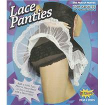 Sexy Black French Maid Lace Panties Bloomers with Ruffles