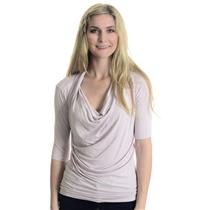 NWT XS Karen Kane Sweet Dream Stretch Pencil Sleeve Cowl Neck Top In Light Pink