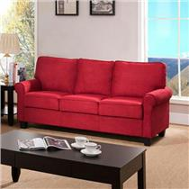 Pallet Shipping - K & B Furniture Anniston Sofa Microfiber Solid Red Model 912RS