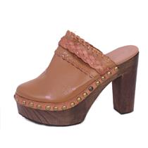 NIB Sz EU 41/US 10.5 Sixtyseven Beth Mules in Doll Cuero/Vachetta Brandy Leather