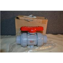 "ASAHI C-PVC, 1"" DUO-BLOC 21 BALL VALVE, 230PSI, FKM NEW"