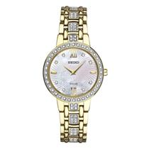 Seiko Watch SUP364 Ladies Swarovski Crystal Collection Gold Tone. 25%off MSRP