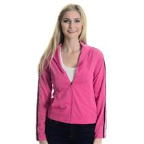 XS Adidas Pink/Black/White Mesh Lined Full Zip Mock Neck Track Jacket w/ Pockets