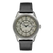 Seiko Watch SNE447 Solar Day/Date w/Aged Pewter Finished Case/Dial. 25%Off MSRP