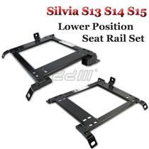 (2) Lower Position Seat Rail For Silvia 180sx S13 S14 S15 Recaro Sparco Bride