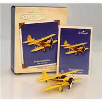 Hallmark Series Ornament 2002 Sky's The Limit #6 - Staggerwing - #QX8093-SDB