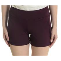 New! Sz S all by jofit Burgundy Raisin Nylon Spandex Athletic Shorts w/Pockets