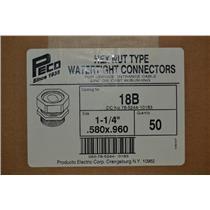 PECO 18B, Hex Nut Type Watertight Connectors (Box of 50)