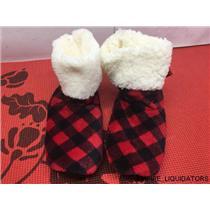 Joe Boxer Red & Black Plaid Women's Slippers Size 4-10
