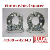 (4) 15mm | 4x100 to 4x114.3 | Wheel Spacers | Adapters | Billet | 12x1.5 Spacer