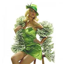 $100 Dollar Bills Money Boa High Rollers Flapper 20's Costume Accessory