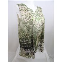 Catherines Size 0X Moss Green Polyester Embellished Tank