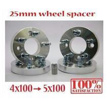4pcs 25mm Wheel Spacer Adapter Bolt On 12 x 1.5 4x100 Convert To 5x100 Billet