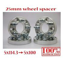 (4) Wheel Adapter Spacers 5x114.3 to 5x100 / 12x1.5 / 25mm / 5x4.5 to 5x3.94