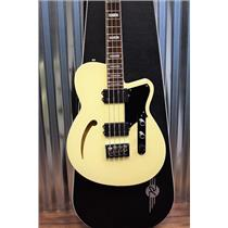 Reverend Guitars Dub King 4 String Semi Hollow Bass Guitar Cream & Case