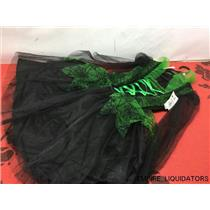 Youth Wicked Spider Witch Costume Dress Size Large Black & Green ( NO HAT)