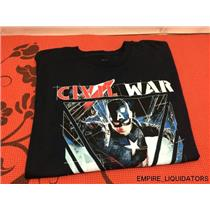 Marvel Captain America's Civil War Large T-Shirt - Dark Blue (NO TAGS)