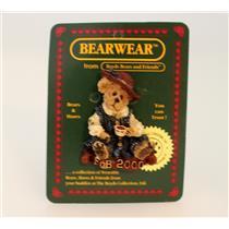 Boyds Bears Club FOB Pin 2000 Caitlin Fine Cup of Tea - #02000-11