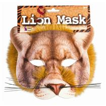 Lion Mask 3D Screen Print Realistic Look Soft Face Mask Fun Fur Adult Or Child
