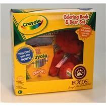 Boyds Bears 2005 Crayola Coloring Book and Bear Set - M.R. Redington - #919103