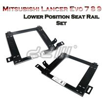 (2) Mitsubishi Lancer Evo 7 8 9 Lower Position Seat Rail Recaro Sparco Bride