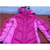 GIRLS - Vertical 9 Hooded Puffer Jacket SIZE LARGE 14/16 in PINK w/ Tags