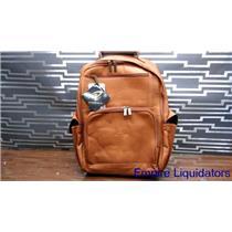 Pangea Genuine Tan Leather NHL Washington Capitals Computer Backpack Ww7759 -A