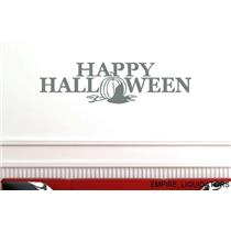 NEW - Vinyl Say G.Dark Grey -44x12-h.0009 Happy Halloween Wall Decal -A