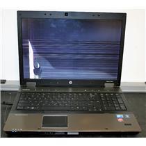 """HP EliteBook 8740W 17"""" i5 Cracked Screen Laptop PARTS REPAIR AS IS"""