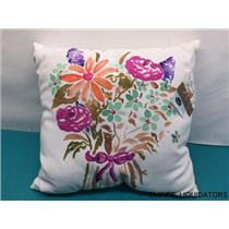 "Manual Reversible 17"" X 17"" Indoor/Outdoor Decorative Square Throw Pillow -A"