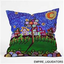 "DENY Designs 26"" x 26"" Renie Britenbucher Van Gogh Sky Throw Pillow -A"