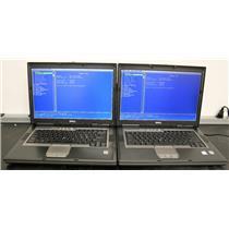 """LOT 2 Dell Precision M65 Latitude D820 15.4"""" Intel Core 2 Duo 1.66Ghz 2GB Laptop"""