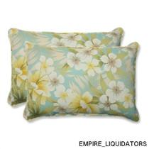 2 Pillow Perfect Outdoor Sugar Beach Sand OverSized Rectangular Throw Pillows -A