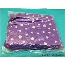 """24 Pack of Kunin Fanci Felt in purple w/ Silver Hearts (9"""" x 12"""" Squares) -A"""