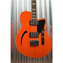 Reverend Guitars Dub King 4 String Semi Hollow Bass Rock Orange & Two Tone Case