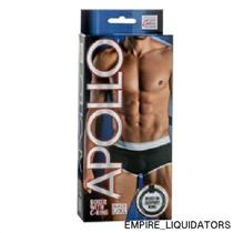 New - California Men's Apollo Boxer's with C ring Support in L/XL (Black) -A