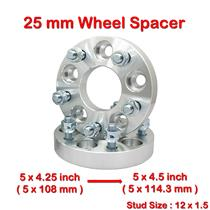 2 pcs 25mm 5 Studs 12 x 1.5 PCD 5 x 108 to 5 x 114.3 mm Wheel Spacer Spacers