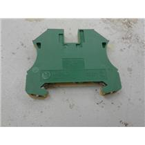 Allen Bradley 1492-JG4 Terminal Block, Grounding, 22 - 10Awg, Green/Yellow, 4Mm