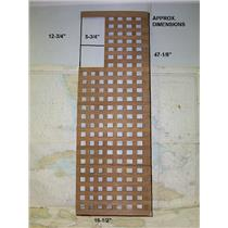 "Boaters' Resale Shop of TX 1703 2744.24 TEAK GRATE 16-1/2"" W x 47-1/8 L"