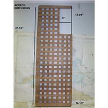 "Boaters' Resale Shop of TX 1703 2744.25 TEAK GRATE 16-1/2"" W x 47-1/8 L"