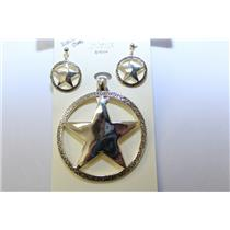 PENDANT MAGNETIC AND EARRING SET SHERIFF BADGE A-S #KPE3080-S-AS