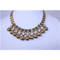 NECKLACE AND EARRING SET CHAIN W/STONE #BNE2922G-CRY