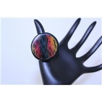 RING ROUND SNAKESKIN W/RESIN #PR1024MUL