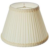 Royal Designs Pleated Square Top Gallery Designer Lamp Shade Eggshell 9x16x11.5