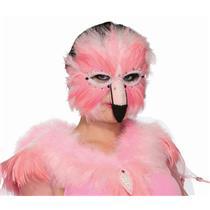 Pink Flamingo Feathered Venetian Animal Eye Mask