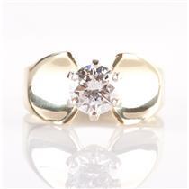 Stunning 18k Yellow Gold Round Cut Diamond Solitaire Engagement Ring 1.10ct