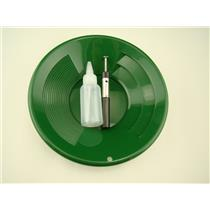 "1- 10"" Green Gold Pan 1- 5"" Bottle Snuffer 1-Pocket Magnet Pick up tool"