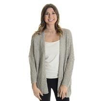 Sz S Olivaceous Gray SOFT Knit Long Sleeve Open Front Dolman Sleeve Cardigan