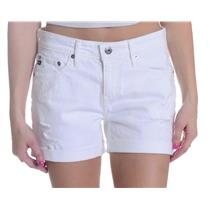 29 New AG Adriano Goldschmeid The Hailey Ex-Boyfriend Roll Shorts White Restored